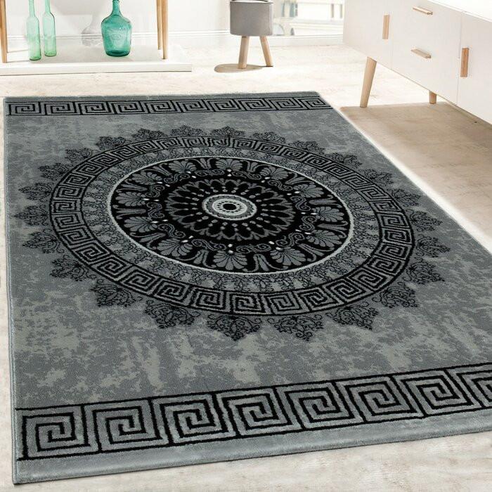 Covor Burslem, negru / gri, 80 x 300 cm