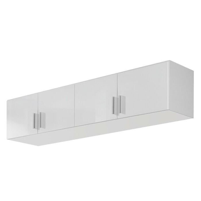 Etajera/ atașament superior pentru dressing Celle, alb alpin lucios, 39 x 181 x 54 cm 2021 chilipirul-zilei.ro