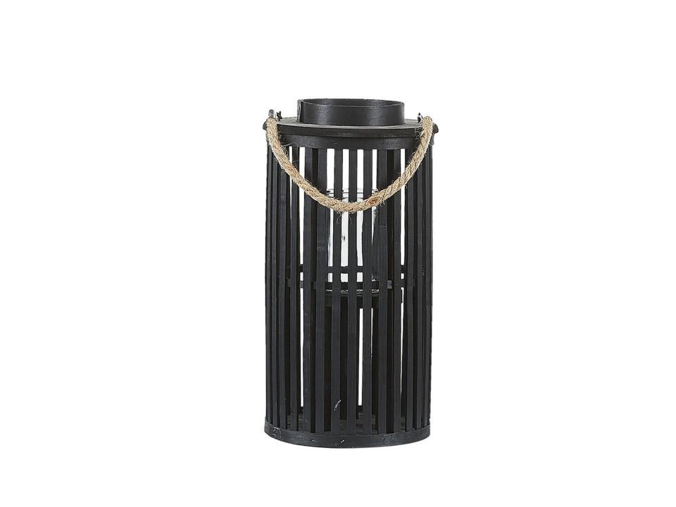 Felinar decorativ salcie LUZON 40 cm negru poza chilipirul-zilei.ro