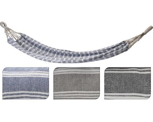 Hamac tesatura/textile, bej/albastru/gri, 110 x 220 cm poza chilipirul-zilei.ro