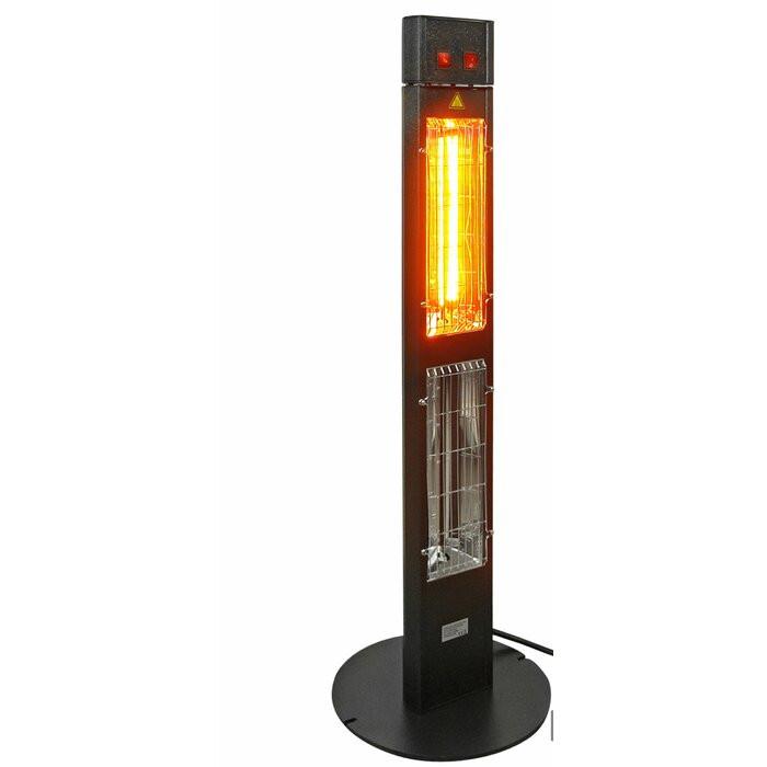 Incalzitor electric, aluminiu, negru, 114 x 35 x 35 cm poza chilipirul-zilei.ro
