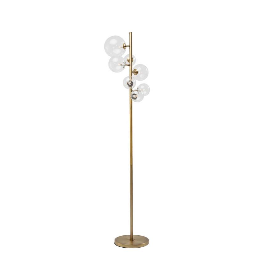 Lampadar Bello Sette, metal, auriu, 7 lumini, 62 x 42 x 43 cm, 25w imagine