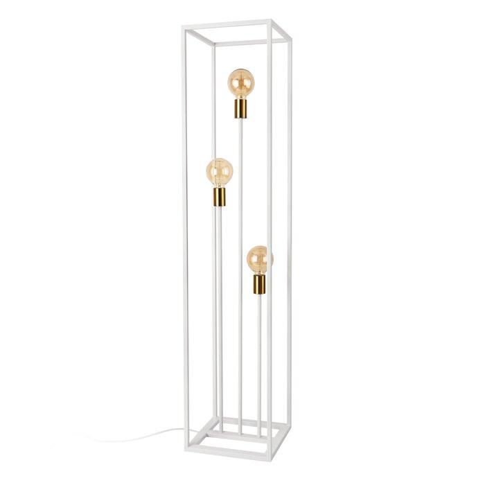 Lampadar CATITA, metal, alb, 140 x 30 x 30 cm