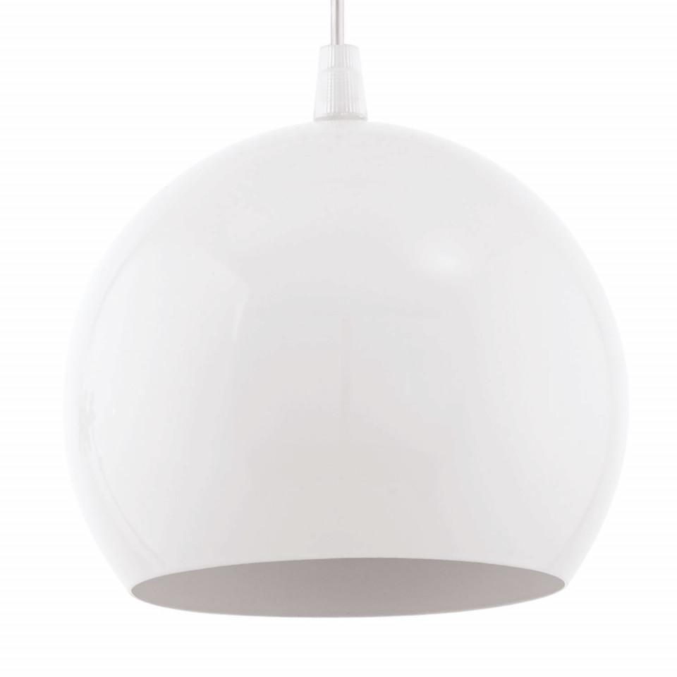 Lustra LED Petto otel, alb, 1 bec, diametru 15 cm, 240 lm
