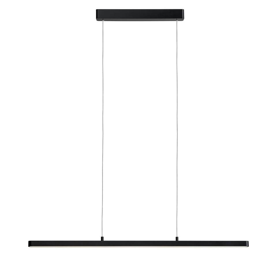 Lustra tip pendul LED Lento II aluminiu/sticla acrilica, negru, 1 bec, 230 V imagine 2021 chilipirul zilei