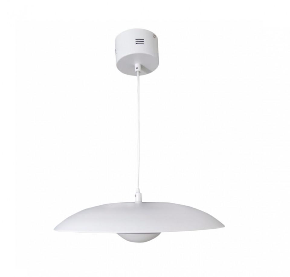 Lustra tip pendul LED Ufo metal, alb, 1 bec, diametru 34 cm, 230 V