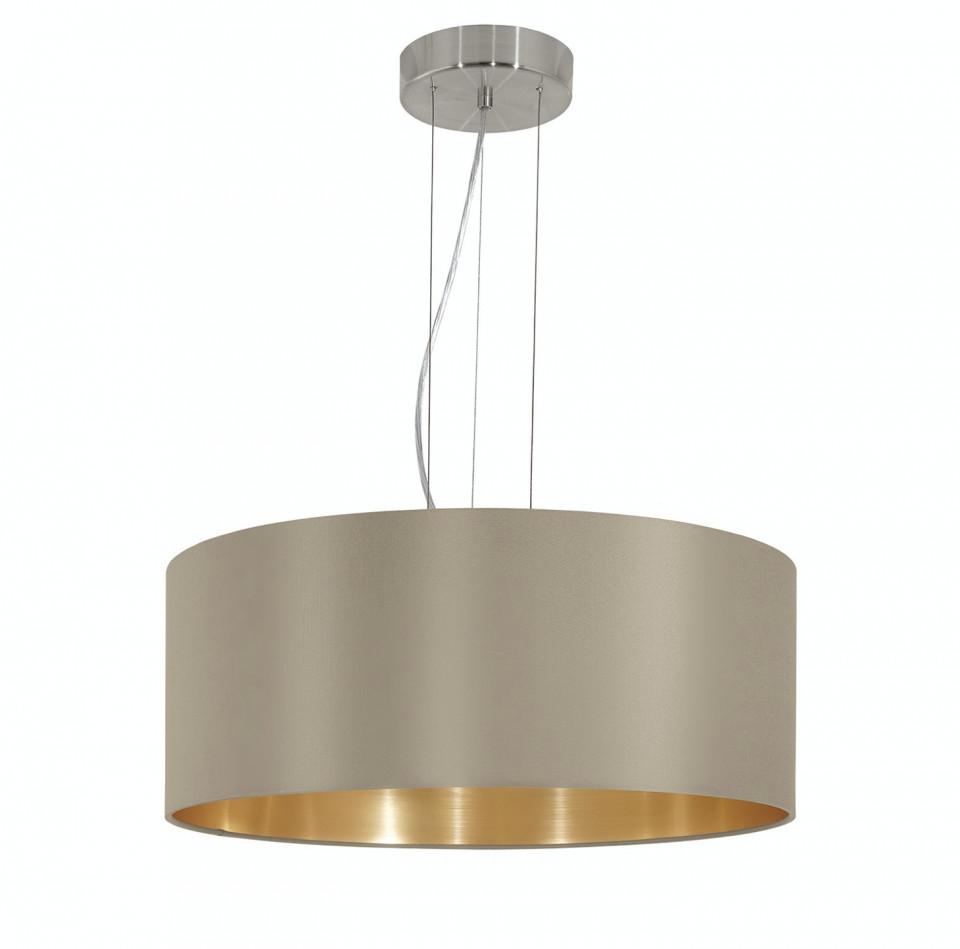 Lustra tip pendul MASERLO II 3xE27/60W/230V taupe auriu