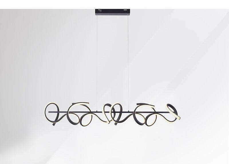 Lustra tip pendul, metal/plastic, neagra, 21 x 135 x 99 cm, 102w imagine chilipirul-zilei.ro