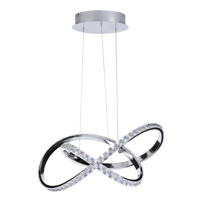 Lustra tip pendul Washington, LED, metal/plastic, 55 x 55 cm, 25w