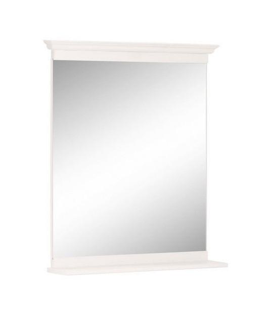 Oglinda Home Affaire, rama lemn alb, 65x55 cm chilipirul-zilei.ro