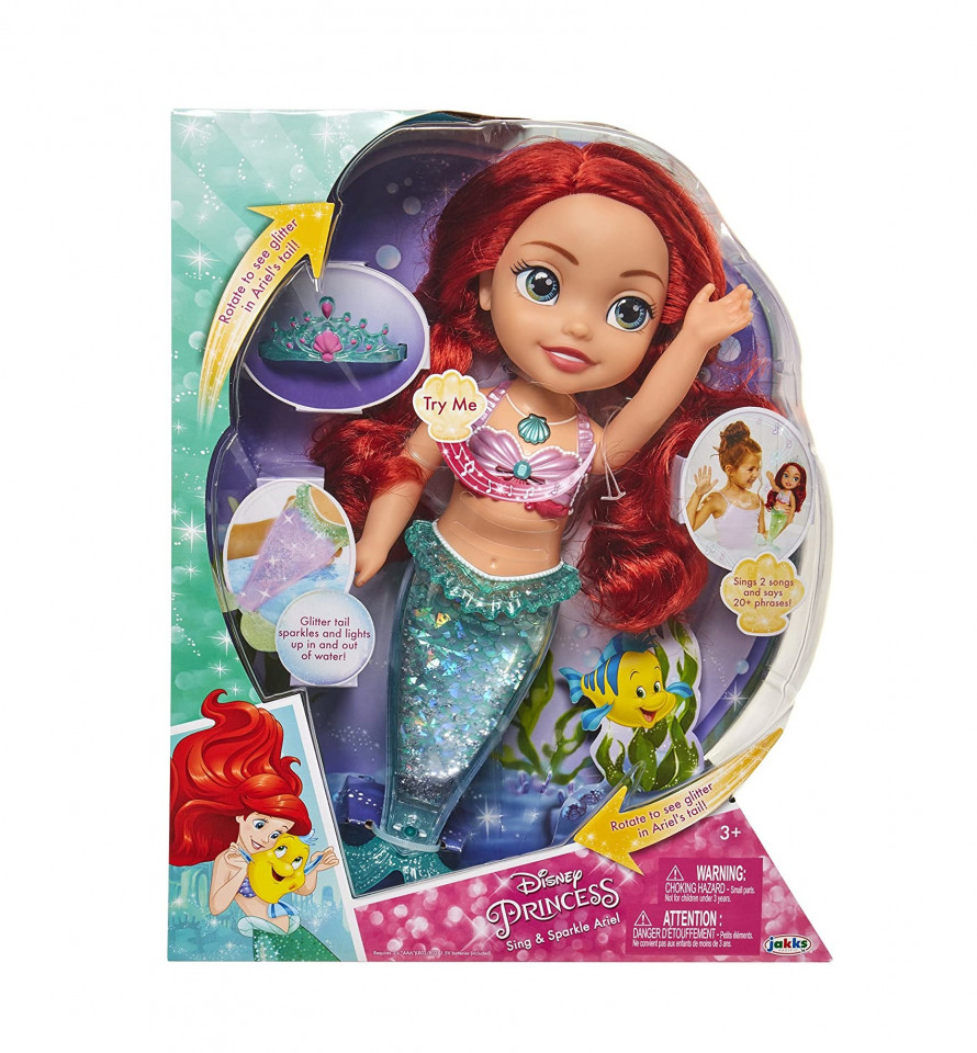 """Papusa Ariel Disney """"Canta si straluceste"""", 35 cm, multicolora chilipirul-zilei 2021"""