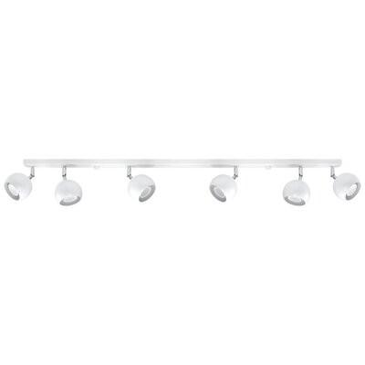 Plafoniera cu 6 lumini Carabello, alb, 15 x 10 x 120 cm