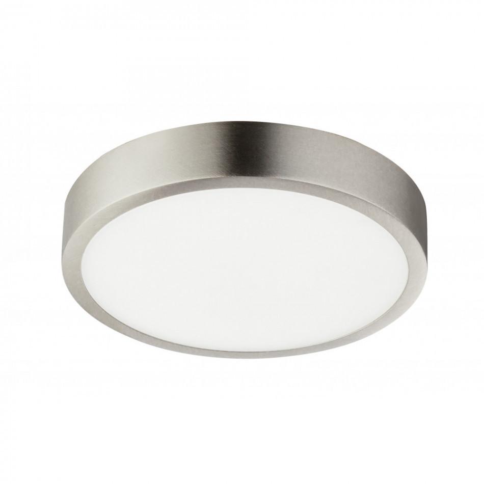 Plafoniera LED Alara sticla acrilica/aluminiu, alb, 1 bec, diametru 15 cm, 230 V imagine