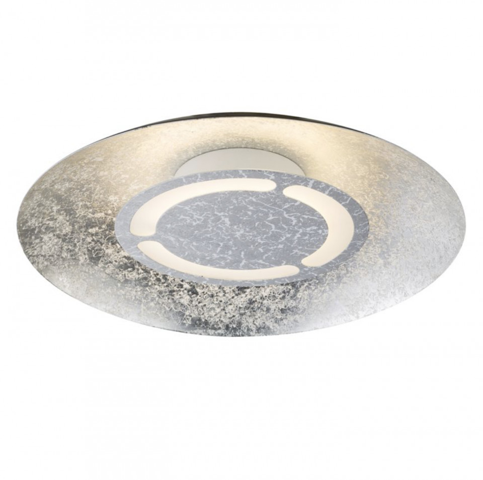 Plafoniera LED Matteo fier, 1 bec, diametru: 35 cm, argintiu, 230 V