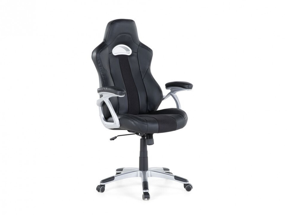 Scaun de birou Adventure din piele ecologică, negru