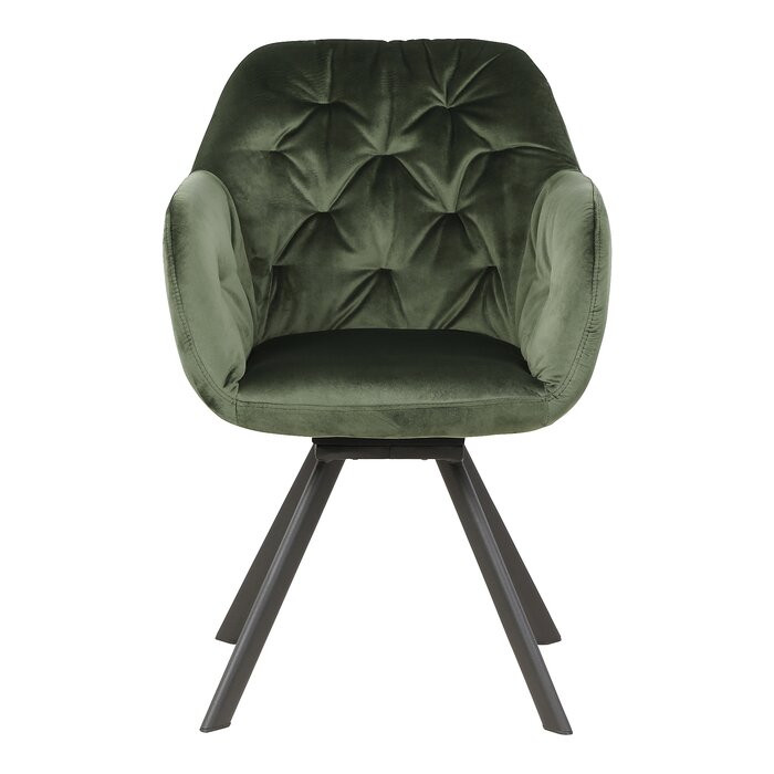 Scaun Lola, metal, verde, 81,5 x 57,5 x 61,5 cm chilipirul-zilei.ro