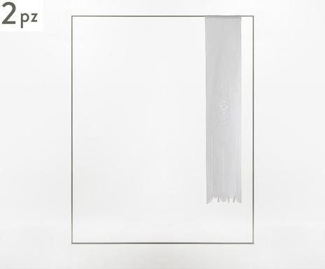 Set de 2 perdele Siena alb, 58x150 cm