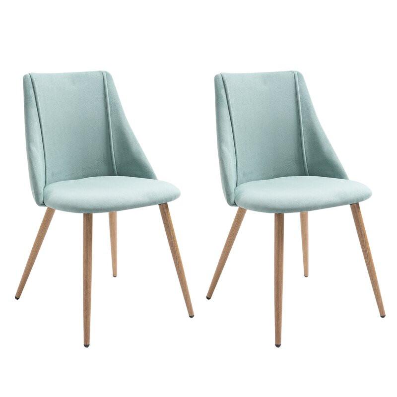 Set de 2 scaune Alviso, verde, 83 x 49 cm