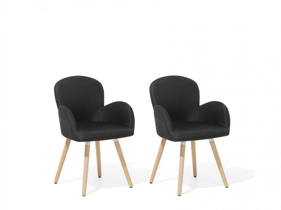 Set de 2 scaune Brookville, negre, 44 x 52 x 83 cm chilipirul-zilei.ro
