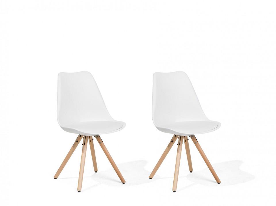 Set de 2 scaune Dakota, maro/alb, 49 x 45 x 86 cm image0