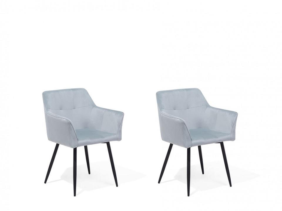 Set de 2 scaune Jasmin, gri/negru, 60 x 49 x 84 cm image0