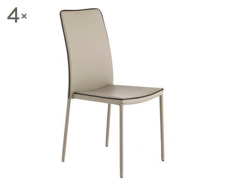 Set de 4 scaune Kable tortora title=Set de 4 scaune Kable tortora