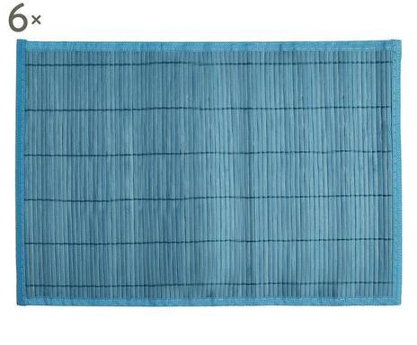 Set de 6 naproane Bambu blu chilipirul-zilei.ro