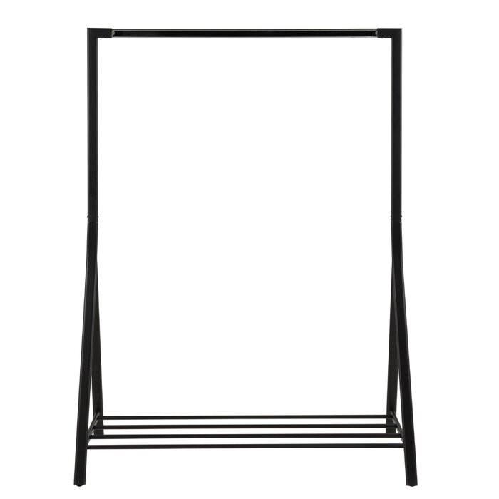 Stand pentru imbracaminte Swann, metal, negru, 165 x 117 x 59 cm