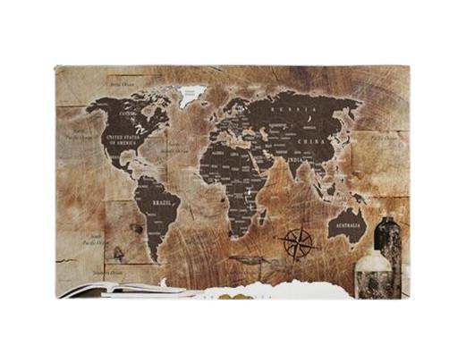 Tablou, lemn/panza, maro, 60 x 90 cm poza chilipirul-zilei.ro