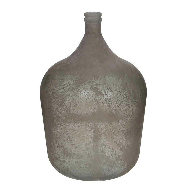 Vaza Meena, sticla, gri, 56 x 40 x 40 cm chilipirul-zilei.ro