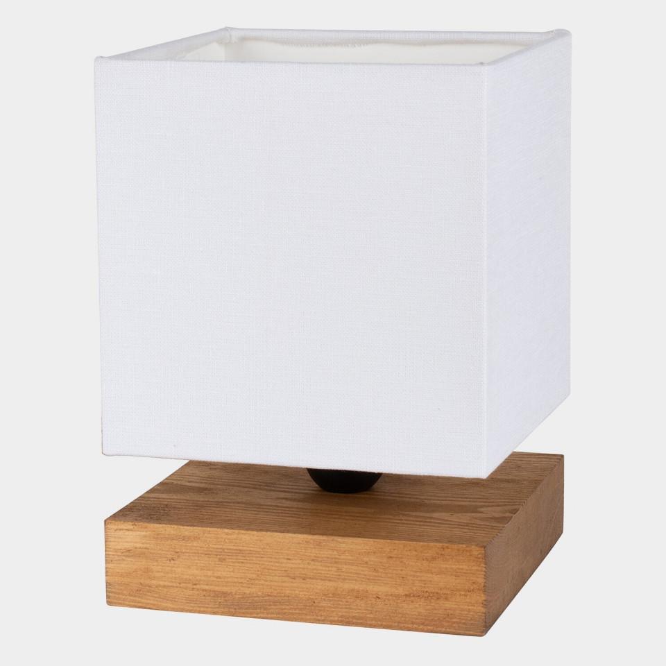 Veioza Marty VI, lemn/metal, maro/alba, 15 x 22 x 15 cm imagine 2021 chilipirul zilei