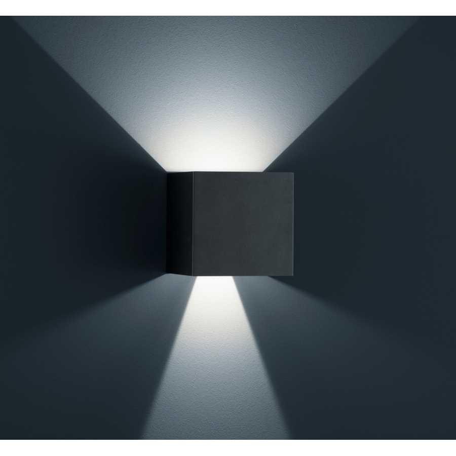 Aplica SIRI 44, metal, neagra, 15 x 15 x 15 cm, 12w