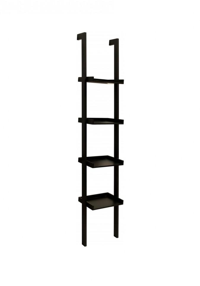 Biblioteca tip scara, MDF, neagra, 37 x 180 x 32 cm imagine 2021 chilipirul zilei
