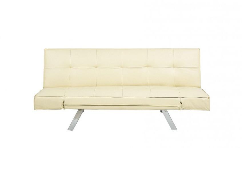 Canapea extensibila Bristol, bej 180 cm, piele sintetica