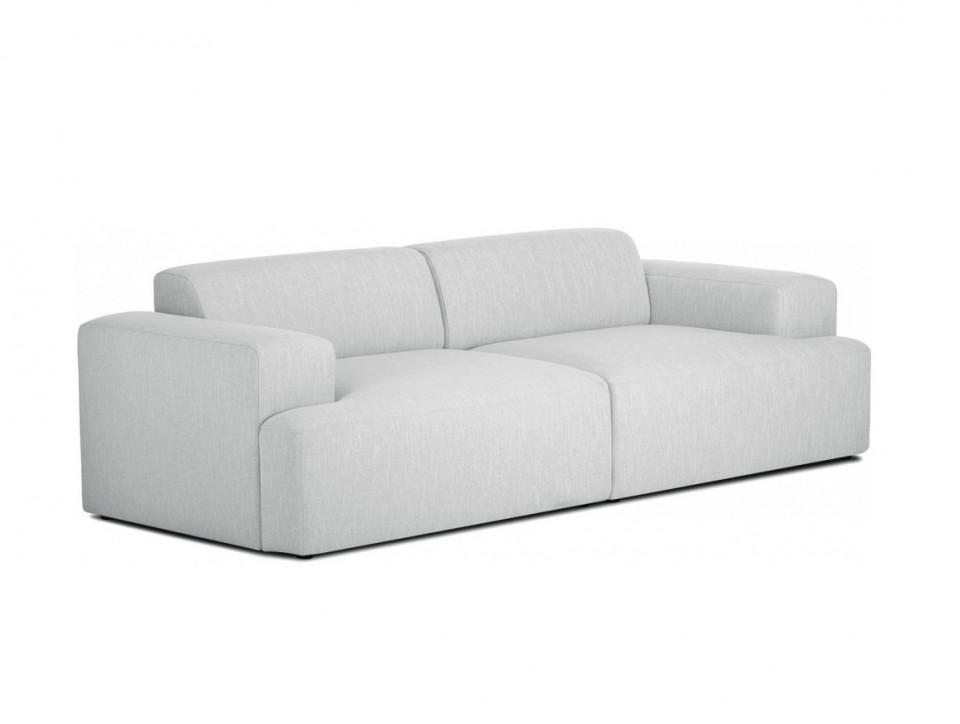 Canapea Melva, 3 locuri, lemn/PAL, gri, 240 x 72 x 101 cm