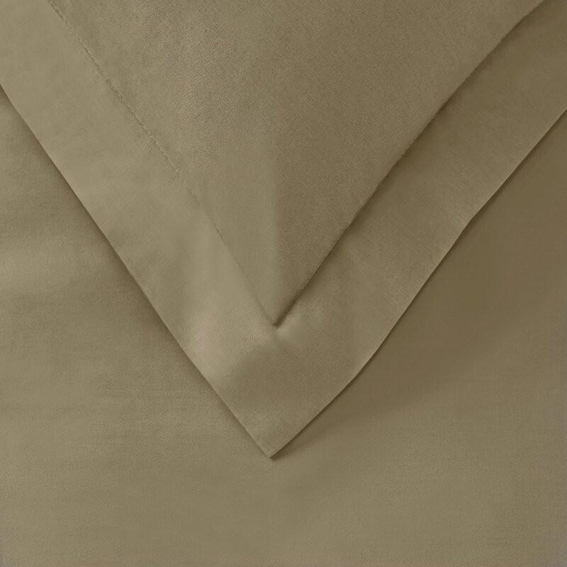 Cearsaf de pat din bumbac, crem, 90 x 190 cm