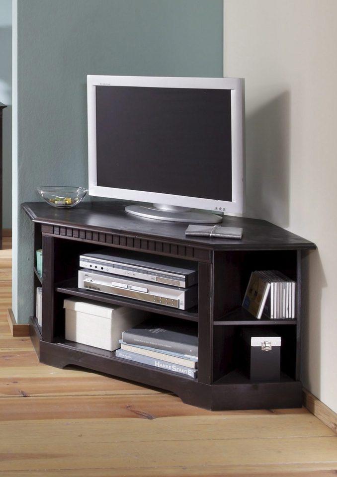 Comoda TV Caroline din lemn masiv, 120 x 54 x 55 cm