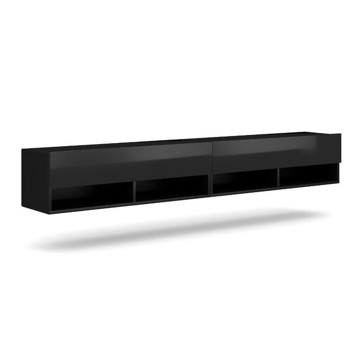 Comoda TV Wescott, PAL, neagra, 200 x 31 x 33 cm