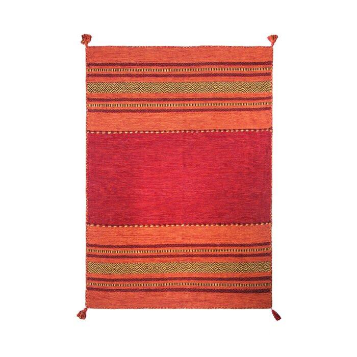 Covor Chinn din lana, realizat manual, rosu, 130 x 190 cm chilipirul-zilei 2021