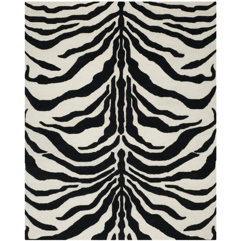 Covor Jayleen ivory / negru, 91 x 152cm