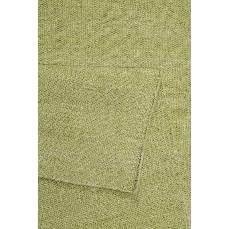 Covor Rainbow țesut manual, verde lime, 160 cm x 230 cm