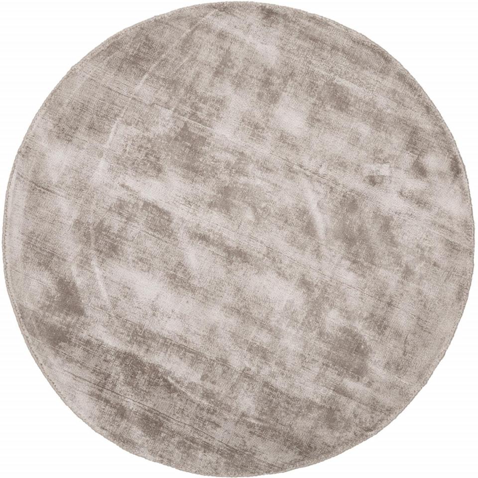 Covor rotund din viscoză țesută manual Jane, diametru 120 cm imagine chilipirul-zilei.ro