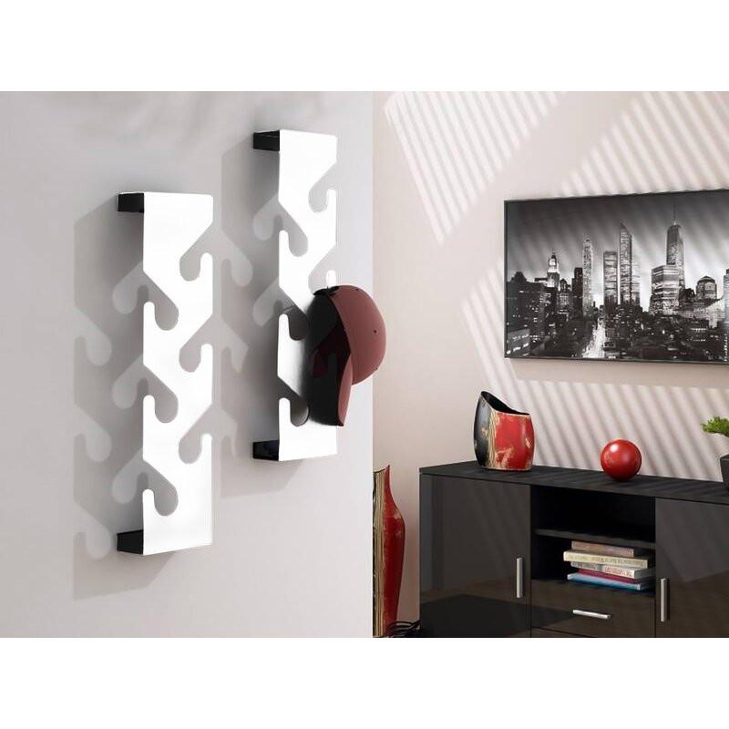 Cuier Pols din metal, alb, 60 x 15 cm