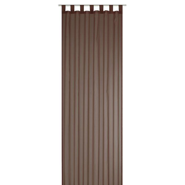 Draperie Margit, poliester, maro, 140 x 255 cm