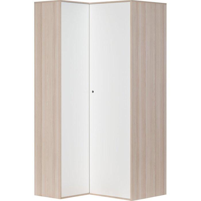 Dulap de colt, PAL, acacia/alb, 210 x 105 x 100 cm poza chilipirul-zilei.ro