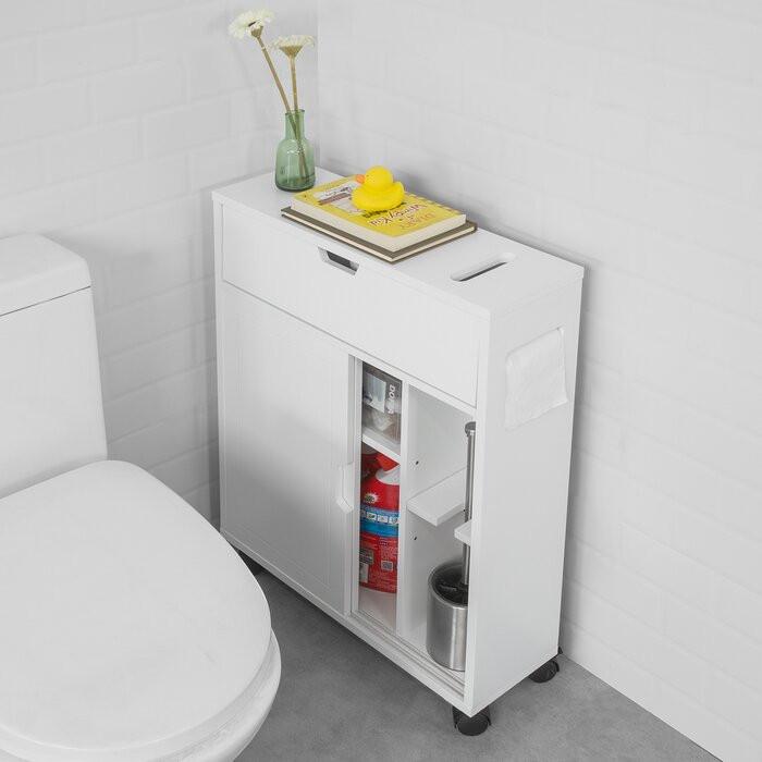 Dulap pentru baie Munos, alb, 67 x 52 x 17 cm poza chilipirul-zilei.ro