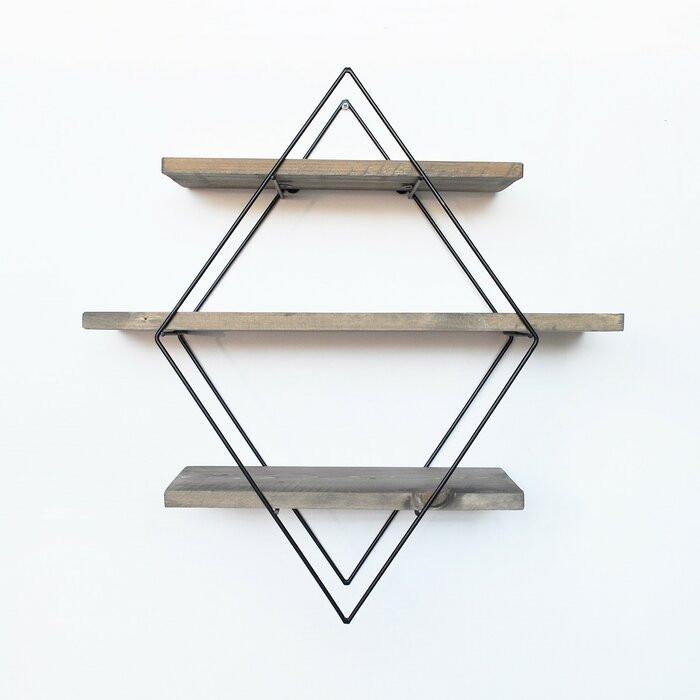 Etajera Yazmin, lemn, 62 x 42 x 15 cm poza chilipirul-zilei.ro