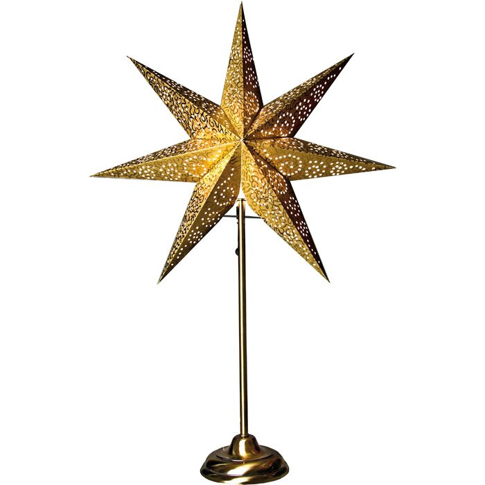 Lampa in forma de stea, Galbena, LED, 48 x 48 x 14 cm