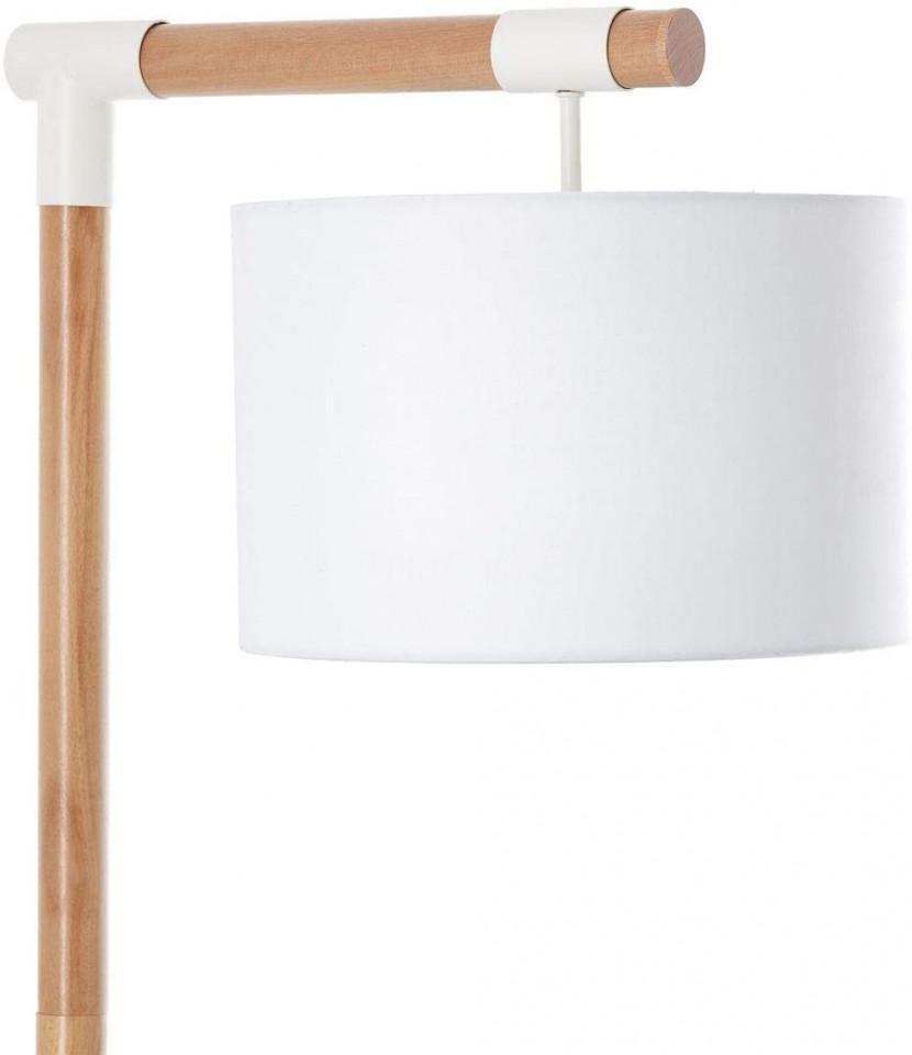 Lampadar Eloi, lemn/textil, maro, 30 x 168 x 48 cm, 60w imagine 2021 chilipirul zilei