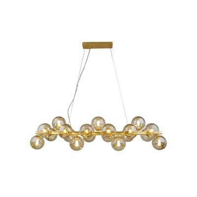 Lustră Aldridge cu 19 lumini, crom, 24 x 95 x 24 cm